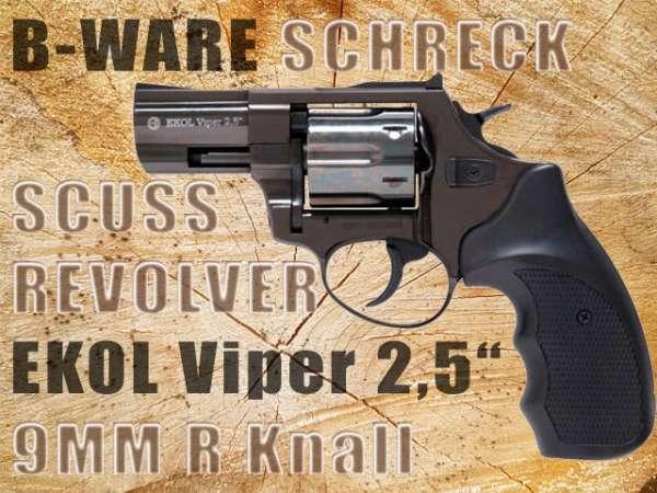B-Ware Schreckschussrevolver/ Gasrevolver GSG Viper 2,5 9mm R Knall schwarz- 2.Wahl