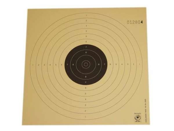 250 Zielscheiben / Schießscheiben / Ringscheiben 17x17cm