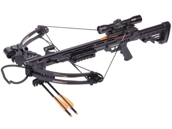 Crosman Compound Armbrust 370 Sniper Schwarz Komplettpaket - 185 lbs (Foto 1)