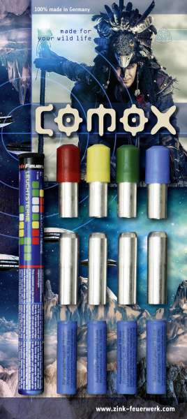 Zink Feuerwerk: Comox 22 Teile Leucht & Signalmunition