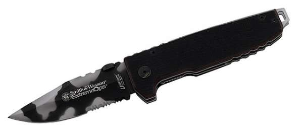 Smith and Wesson Einhandmesser, Extreme Ops, Stahl 440 A, G-10-S