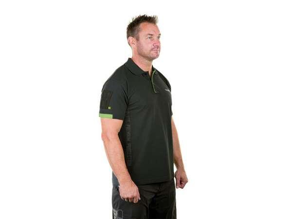 WX Premium Polo Shirt Gr. M anthrazit/grün