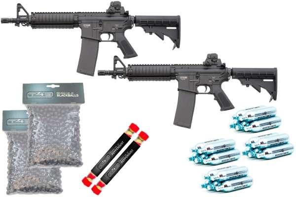 """Homedefense SET """"Mr. & Mrs."""": 2x RAM T4E TM4 CO2, Kal. .43 + 1000 Rubberballs + 20 Pepperballs + 20 Co² Kapseln"""
