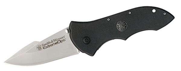 Smith and Wesson Einhandmesser, Stahl 440 C, G-10-Schalen, Gürte