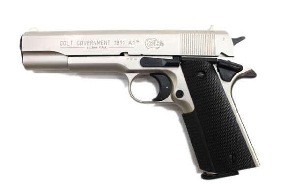 Colt Government 1911 A1, vernickelt, Gaspistole