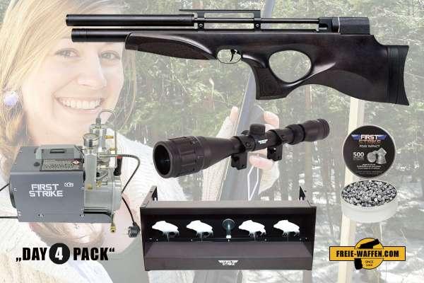 Komplettset: Diana Skyhawk Black Pressluftgewehr 4,5 mm (.177) + Kompressor + Munition + Ziele + Zub