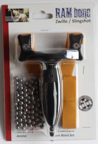 RAMbone 2.0 black – TBG-Single Kit, Zwille, Slingshot, Schleuder, schwarz