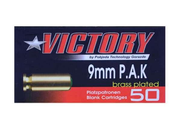 Platzpatronen 9mm P.A.K. Victory Max-Brass vermessingt