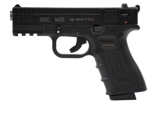 ISSC M22 Schreckschusspistole / Gaspistole schwarz 9 mm P.A.K.