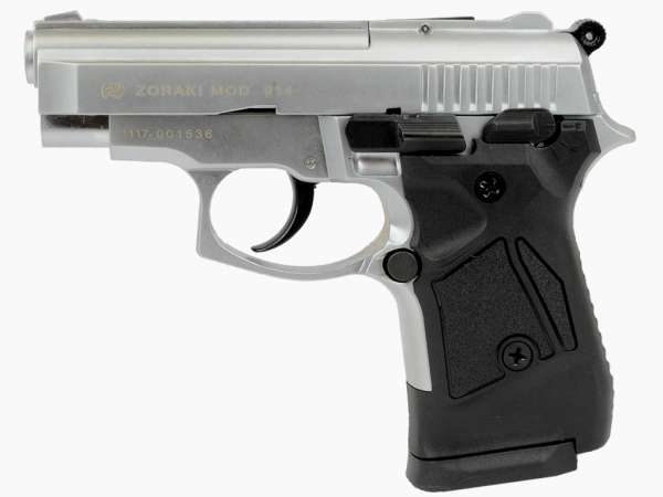 ZORAKI 914 Schreckschusspistole / Gaspistole 9 mm P.A.K. matt chrom