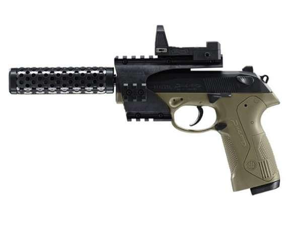 Beretta PX4 Storm Recon, schwarz/olive Set, 4,5mm BB