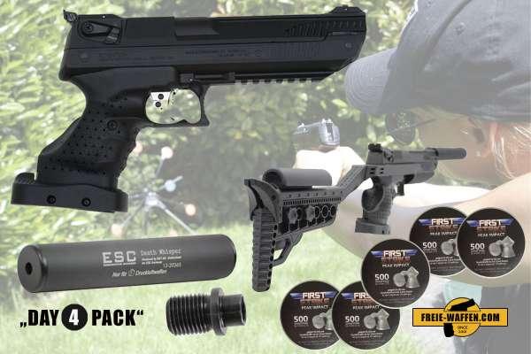 Komplettset: Luftpistole Zoraki HP01 mit Linksgriff Kal. 4,5 mm + Zubehör + Munition