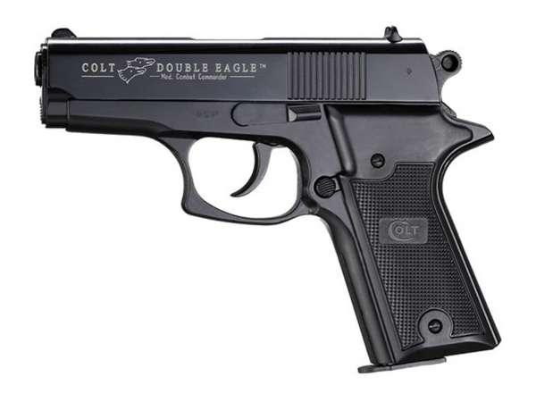 Colt Double Eagle Combat Commander Schreckschusspistole / Gaspistole, 9 mm P.A.K. schwarz/brüniert