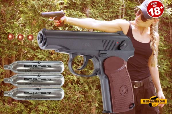 Co2_Pistole_Set_mit_Kasten_BB_10_Co2_Kapseln