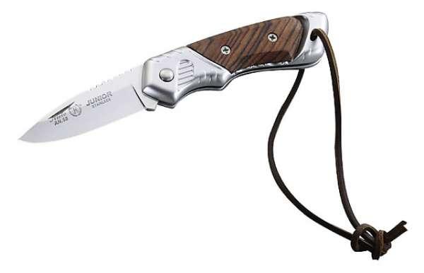 Nieto Taschenmesser, Stahl AN.58, Leichtmetall, Jacaranda-Holz,