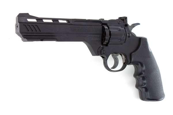 Crosman Vigilante CO2 Revolver 4.5mm (.177) Diabolo und BB (Stahlrundkugeln) Remanufactured