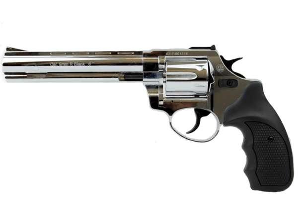 Zoraki R1 6 Zoll Lauf Schreckschuss Gas Signal Revolver Kaliber 9 mm R.Knall chrom