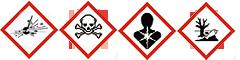 Achtung! Gefahr durch Feuer oder Splitter, Spreng- und Wurfstücke.