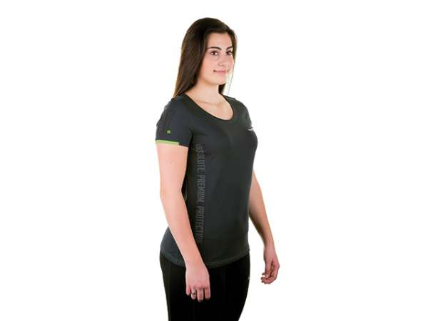 WX Active T-Shirt Damen Gr. L anthrazit/grün