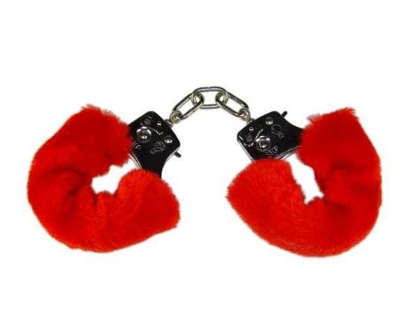 Standard Handschellen mit Plüsch