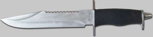 Defense knife, rostfr., Klinge 21 cm