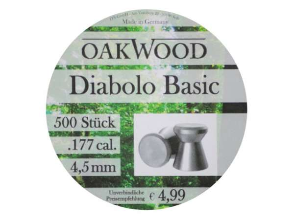 Oakwood Basic Diabolo 500 St. 4,5mm (.177)