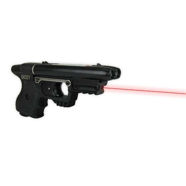 Piexon Pfefferspraypistole Jet Protector JPX Tierabwehrgerät mit integriertem Laser
