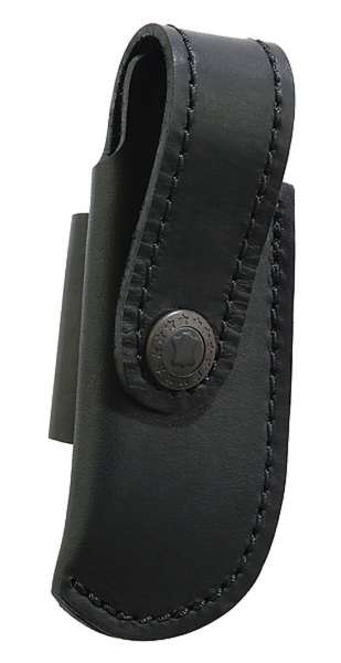Leder-Etui, schwarz, für Messer mit 10 cm Heftlänge