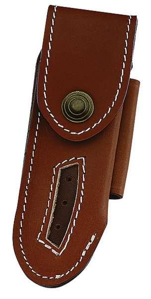 Leder-Etui für Laguiole-Messer, braun, Heftlänge 12 cm