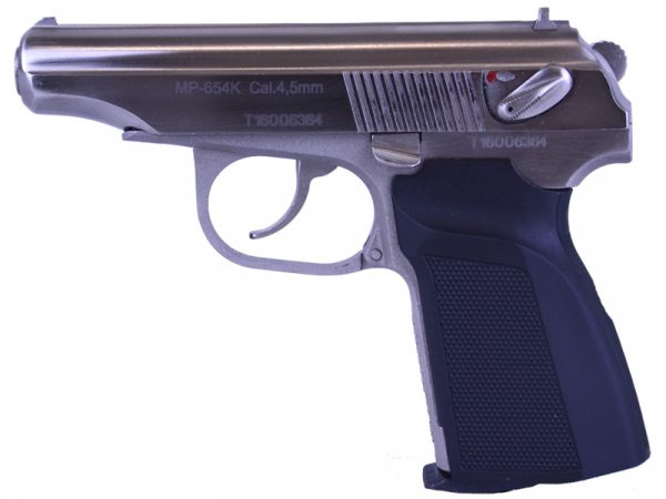 CO2 Luftpistole Baikal Makarov MP-654K Kal. 4,5 mm vernickelt