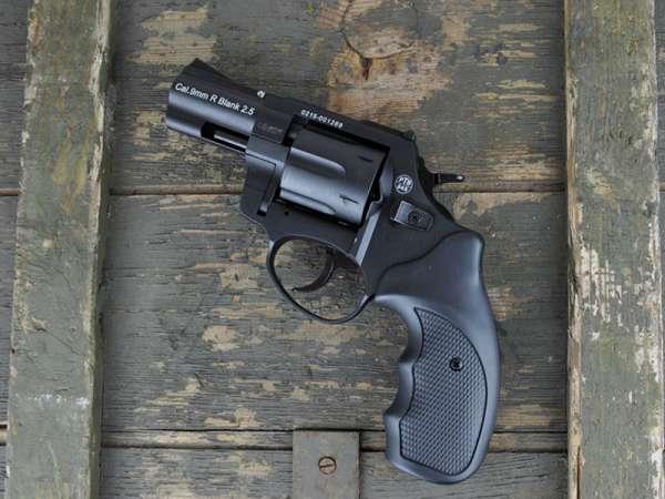 ZORAKI R1 2,5 Zoll Schreckschuss Gas Signal Revolver Kaliber 9 mm R.K. schwarz, 2. Wahl