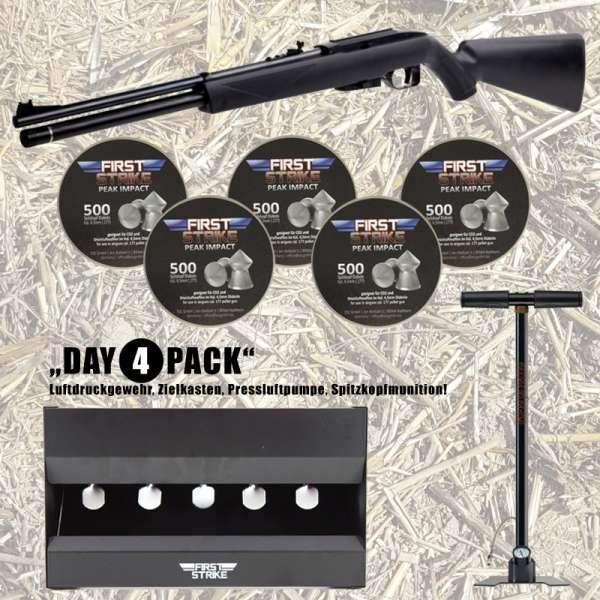 Komplettset: Pressluftgewehr Crosman Wildfire PCP + Pressluftpumpe  + 2500 Diabolos + Zielkasten