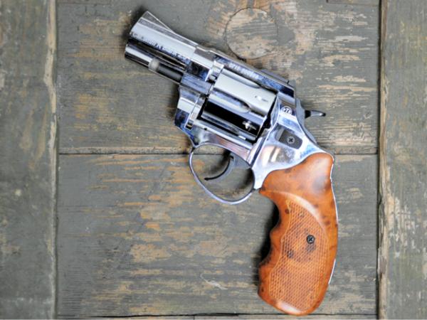 Zoraki R1 Schreckschuss Revolver 2,5 Zoll 9mm R.K / 2. Wahl, Hochglanz Chrom Optik