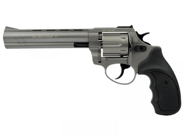 Zoraki Schreckschussrevolver R1 6 Zoll Schreckschus Gas Signal Revolver 9mm R.K. titan, 2. Wahl
