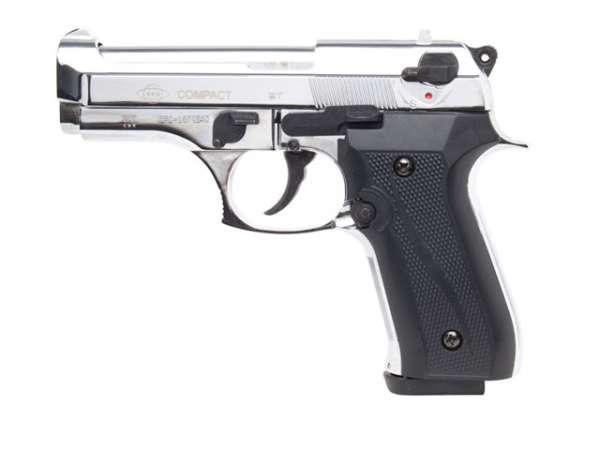 GSG Compact Schreckschusspistole / Gaspistole, chrom