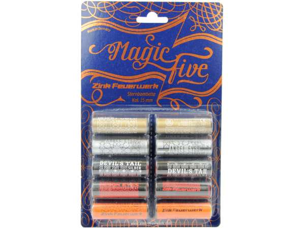 Zink Feuerwerk Magic Five Sternbombetten Kal. 15mm