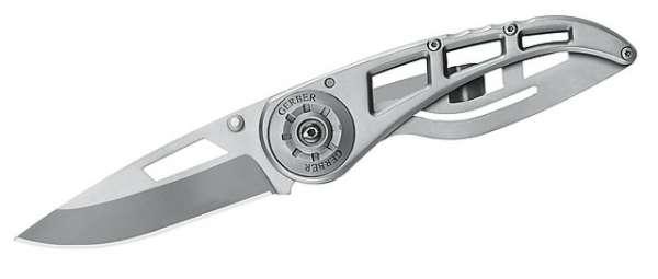 Gerber Einhandmesser Ripstop II, Stahl 440 A, Ganzstahl, Frame L