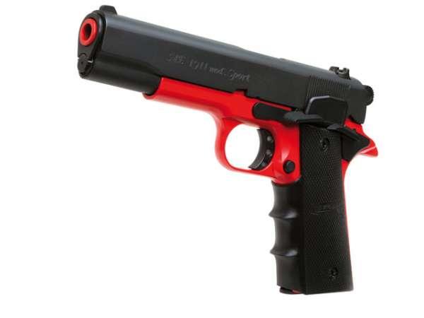 Schreckschusspistole ME Mod. 1911 Sport 9mm P.A.K. black red