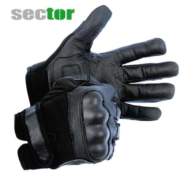 sector Einsatzhandschuh mit Protektoren