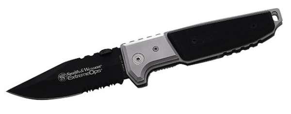 Smith and Wesson Einhandmesser Extreme Ops, 440 A-Stahl, Edelsta