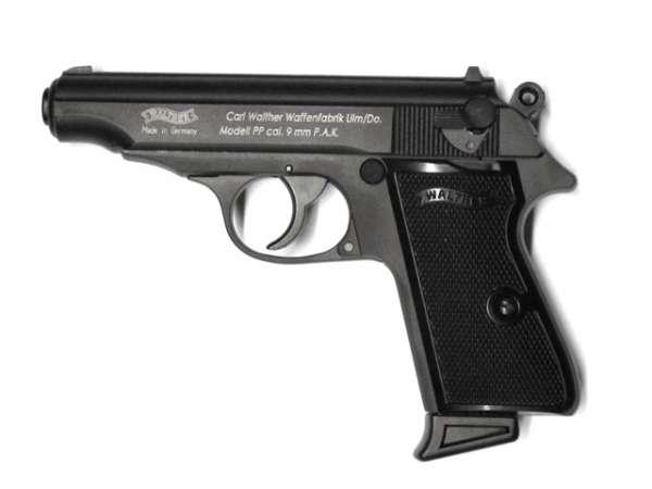Walther PP, Schreckschusspistole,  schwarz