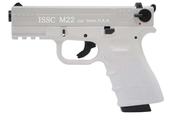 ISSC M22 Schreckschusspistole / Gaspistole weiss Blizzard 9 mm