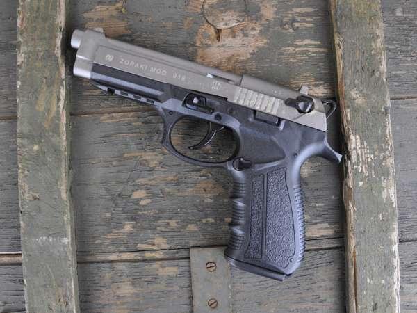 ZORAKI 918 Schreckschuss Pistole Gas Alarm Signal Pistole 9 mm P.A.K., titan 2. Wahl