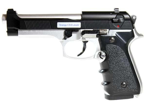 Softair Pistole BGS-118EBS, Federdruck, bicolor