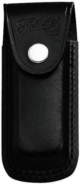 Messer-Lederetui, schwarz, Heftlänge 11 cm