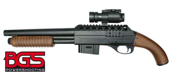 Pumpgun BGS M47 C1, Holzimitat