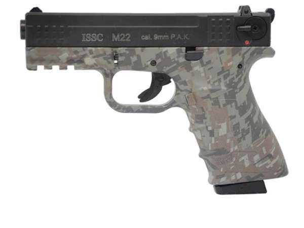 ISSC M22 Schreckschusspistole / Gaspistole digital camo 9 mm