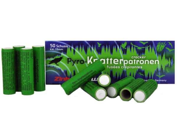 Zink Feuerwerk: Knatterpatronen, Kaliber: 15 mm, 50 Stück