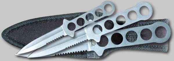 Wurfmesser-3er-Set m. Spezialscheide ,420rfr, 28/44/60g