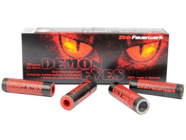 Zink Feuerwerk Demon Eyes Sternbombetten Kal. 15mm 20 Schuss